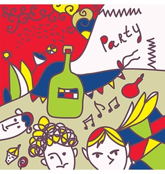Party invitation funny design vector image vector image