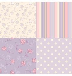 patterns vintage lavender vector image