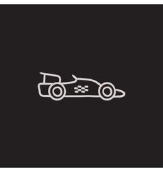 Race car sketch icon vector image