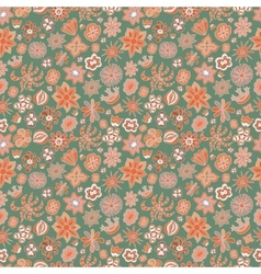 Seamless floral pattern different painted flowers vector image vector image