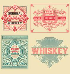 set of 4 vintage labels vector image vector image