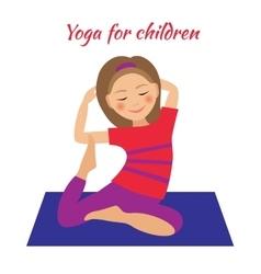 Yoga for Kids Children activities Girl doing vector image