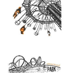 Amusement Park on a White Background vector image vector image