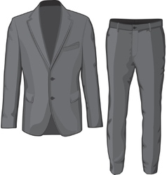 Male clothing suit coat and pants vector image vector image