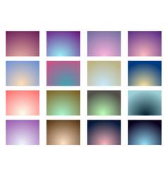 set of gradient backgrounds soft color vector image