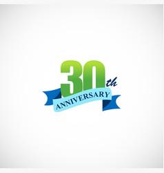 30 anniversary company logo vector image