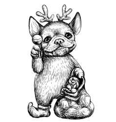 a bulldog puppy wall sticker vector image