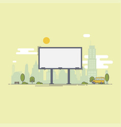 A large empty city billboard for your advertising vector