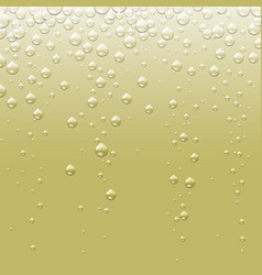 Abstract champagne golden background with bubbles vector