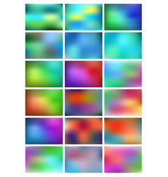 Abstract gradient backgrounds set abstract vector