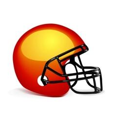 American gridiron helmet vector
