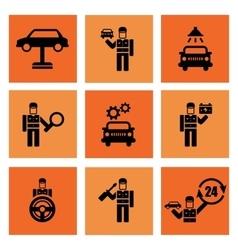 Auto Service Car Mechanic Repair Icons vector