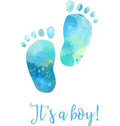baby gender reveal footprints vector image