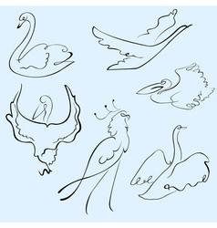 birds design set vector image