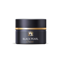 black pearl night cream container icon vector image
