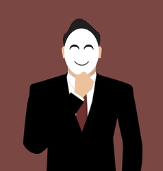 Businessman wearing a mask vector image