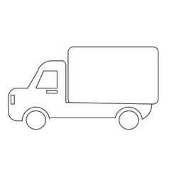 car truck icon vector image