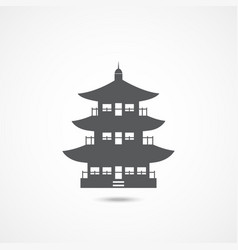 chinese home icon vector image