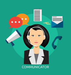 Communicator conceptual design vector