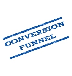 Conversion Funnel Watermark Stamp vector