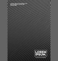 cover design template with lines black color vector image