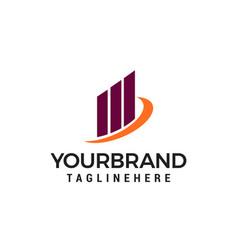 creative building concept logo design template vector image