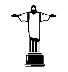 Cristo redentor icon simple black style vector