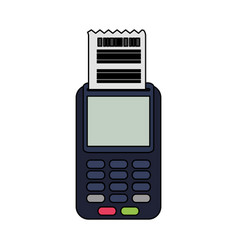 dataphone with invoice icon image vector image