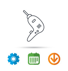 drill tool icon electric jack-hammer sign vector image