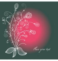 elegant seamless floral pattern vector image