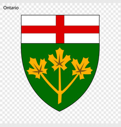 Emblem of ontario province of canada vector