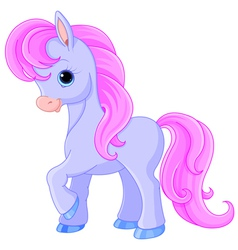 Fairytale pony vector