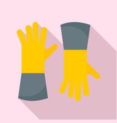 farm gloves icon flat style vector image