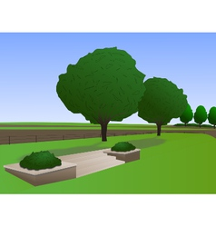 Field with trees vector