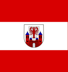 Flag of cottbus in brandenburg germany vector