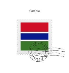 Gambia Flag Postage Stamp vector