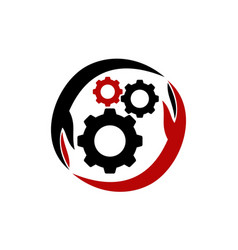 gear solution logo design template vector image
