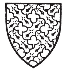 Giffard bore gules with an engrailed fret of vector