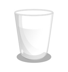 glass beaker with milk icon vector image vector image