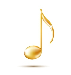 Golden Music Note Sign vector image