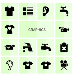 graphics icons vector image