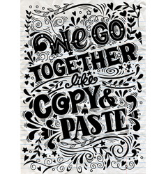 Hand drawn poster with funny quotes creative vector