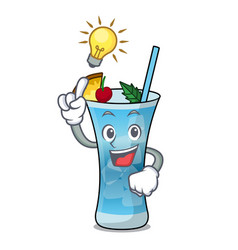 have an idea blue hawaii mascot cartoon vector image