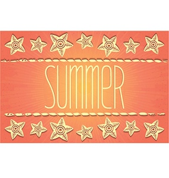 Hawaiian-style summer card vector image