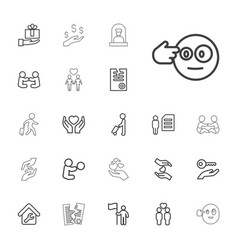 Holding icons vector