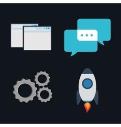 Icon set design vector