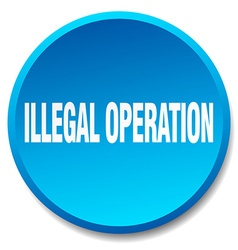 Illegal operation blue round flat isolated push vector