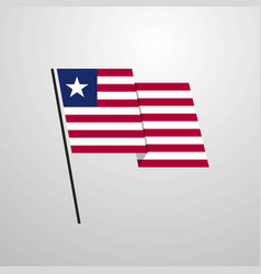 Liberian, Flag & Waving Vector Images (over 100)