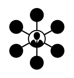 man icon group of persons symbol avatar symbol vector image
