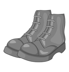 Men boots icon gray monochrome style vector